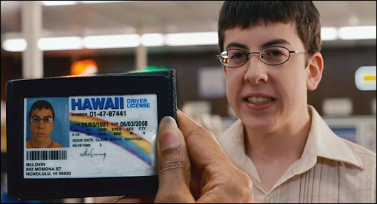 "McLovin's ID from ""Superbad"""