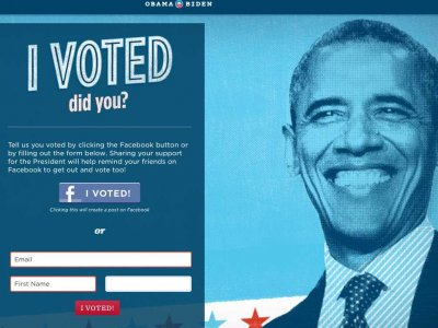 "Message saying ""I voted... did you?"""