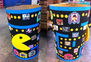 A Pac=Man themed barrel, with added references to Ferris Bueller and other distinctly '80s pop culture references.