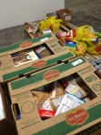 Photo of a few boxes of food.