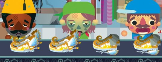 "Screenshot from ""Sweatshop HD"" game"
