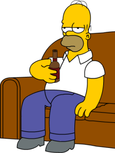 Homer on Couch