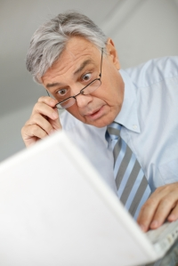 Shocked employer -- who's Facebook profile is he looking at?!